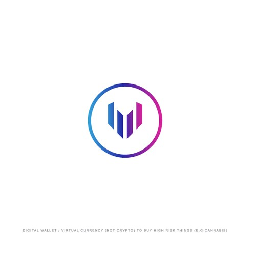 V/heart shape logo concept