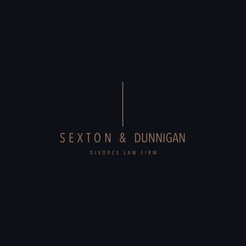 SEXTON & DUNNIGAN Divorce Law Firm Logo Design