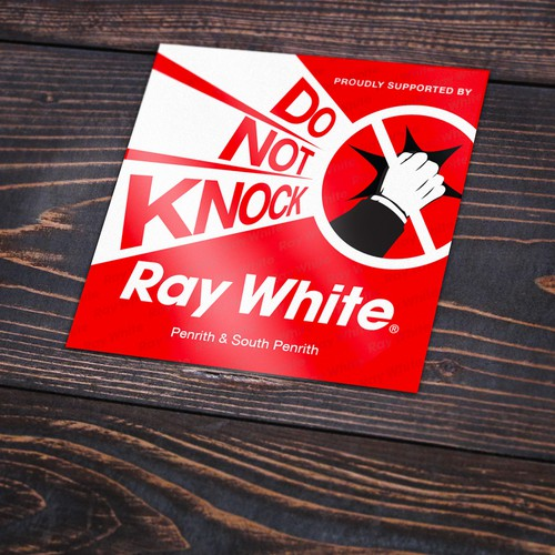Do Not Knock Sticker Ray White