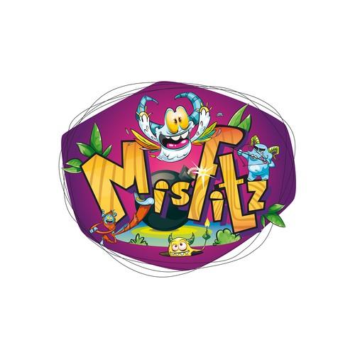 Logo concept for monster toys series.