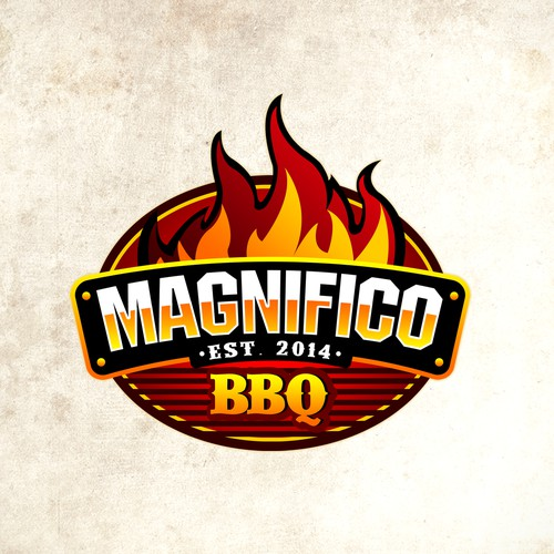 Magnifico Flaming Logo Design