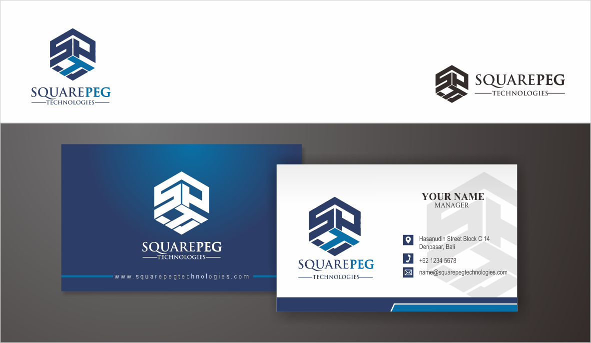 Create logo and business card for Square Peg Technologies