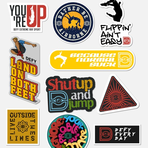assorted street stickers