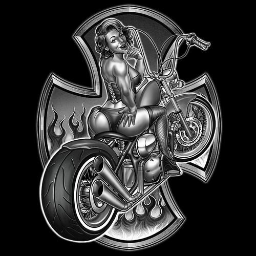 60's sexy biker