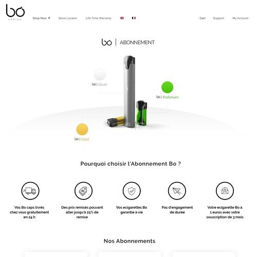 BO website design