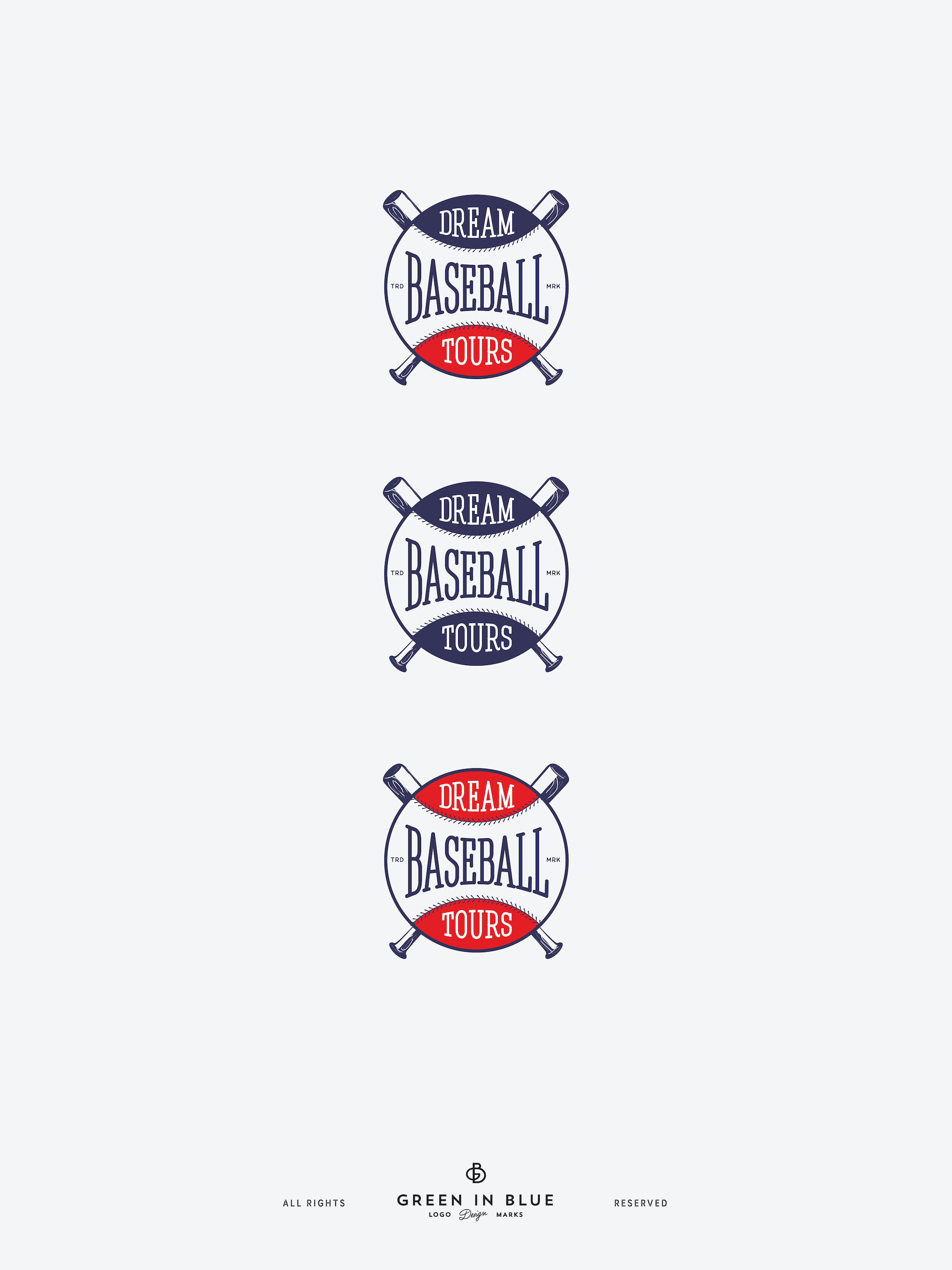 Logo for Dream Baseball Tours, a company that plans and executes baseball stadium tours