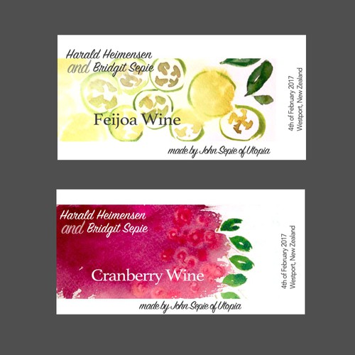 Wine bottles label design