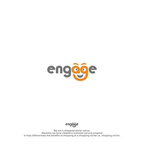 logo concept for engage shopping center