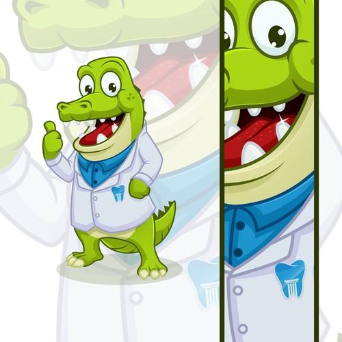 Crocodile Mascot For Dental Practice