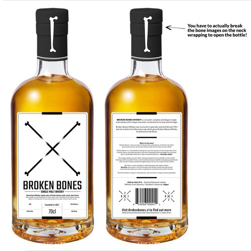 Whisky bottle design