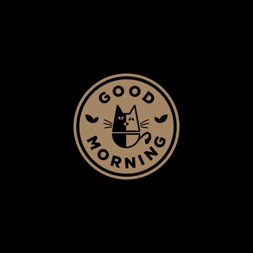 """good morning"""" is the letters, but cat is the main element in this logo.( good MORnig, mor sounds like cat's """"meow"""")."""