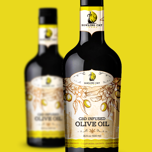 Olive and avocado oil label design