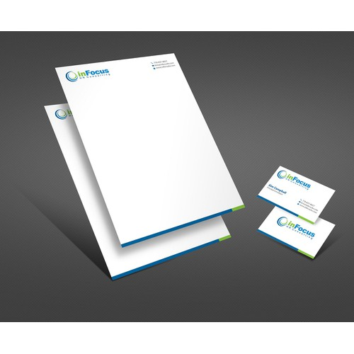 New business card and electronic letterhead for a Human Resources Consulting Business