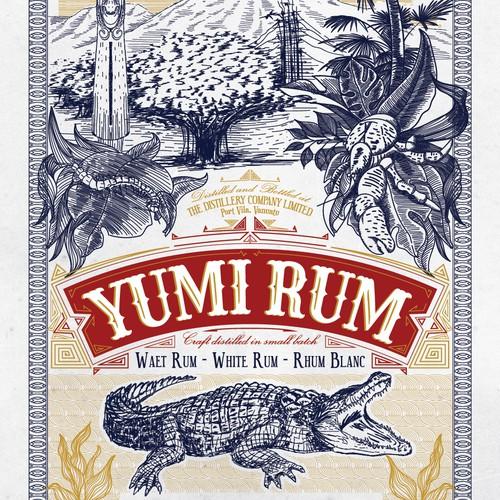 South Pacific Rum craft distillery Label design