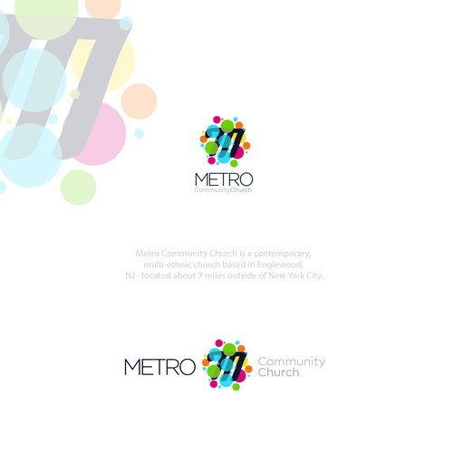 logo design for METRO community church