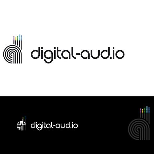 Logo digital audio blog.