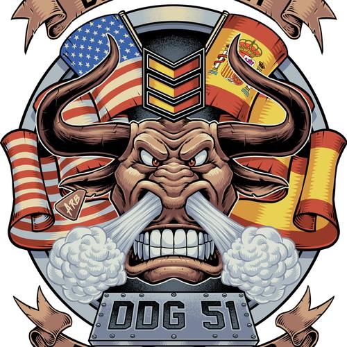 DDG 51 Bull logo