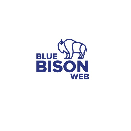 Line-art Bison Logo