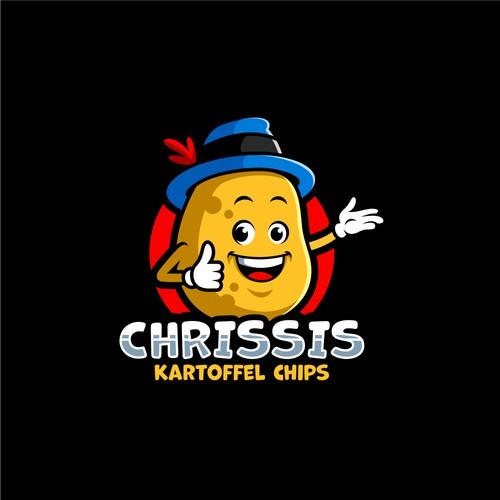 potato mascot for the Kartoffel Chips logo