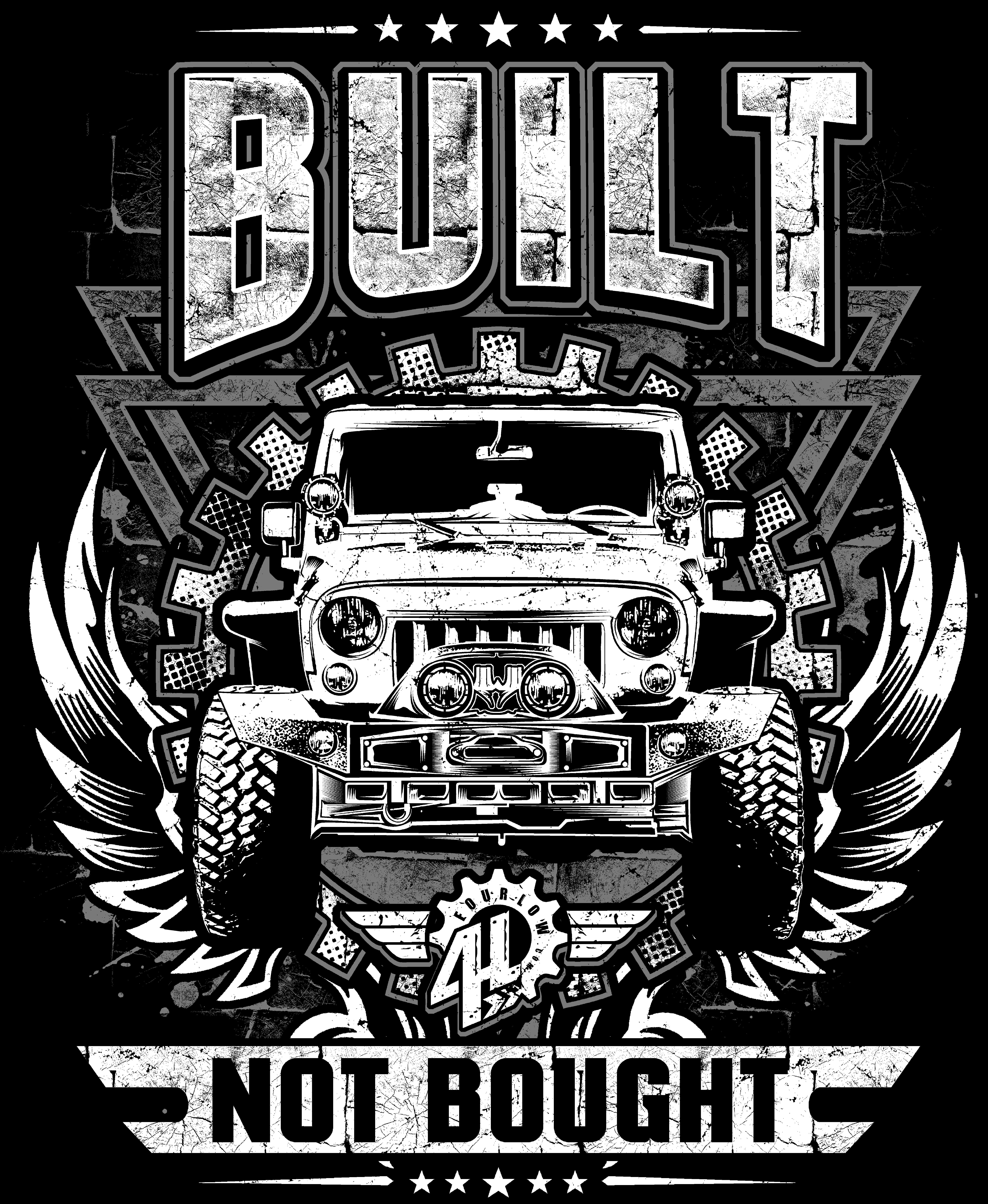 Built NOT Bought Jeep Shirt