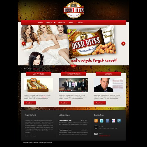 Help BEER BITES - The Ultimate Bar Snack  create a WordPress theme for:  http://www.beerbites.com