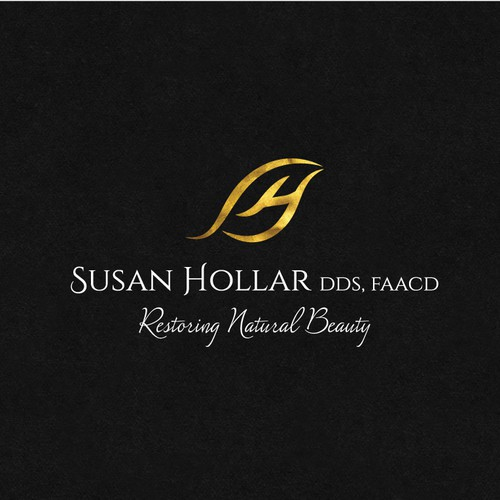 High End Cosmetic Dental Practice - Sophisticated Logo reflecting Natural Beauty