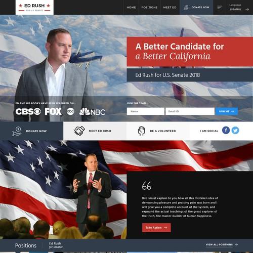 Bold New Political Campaign Site