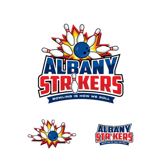 Logo design for bowling alley
