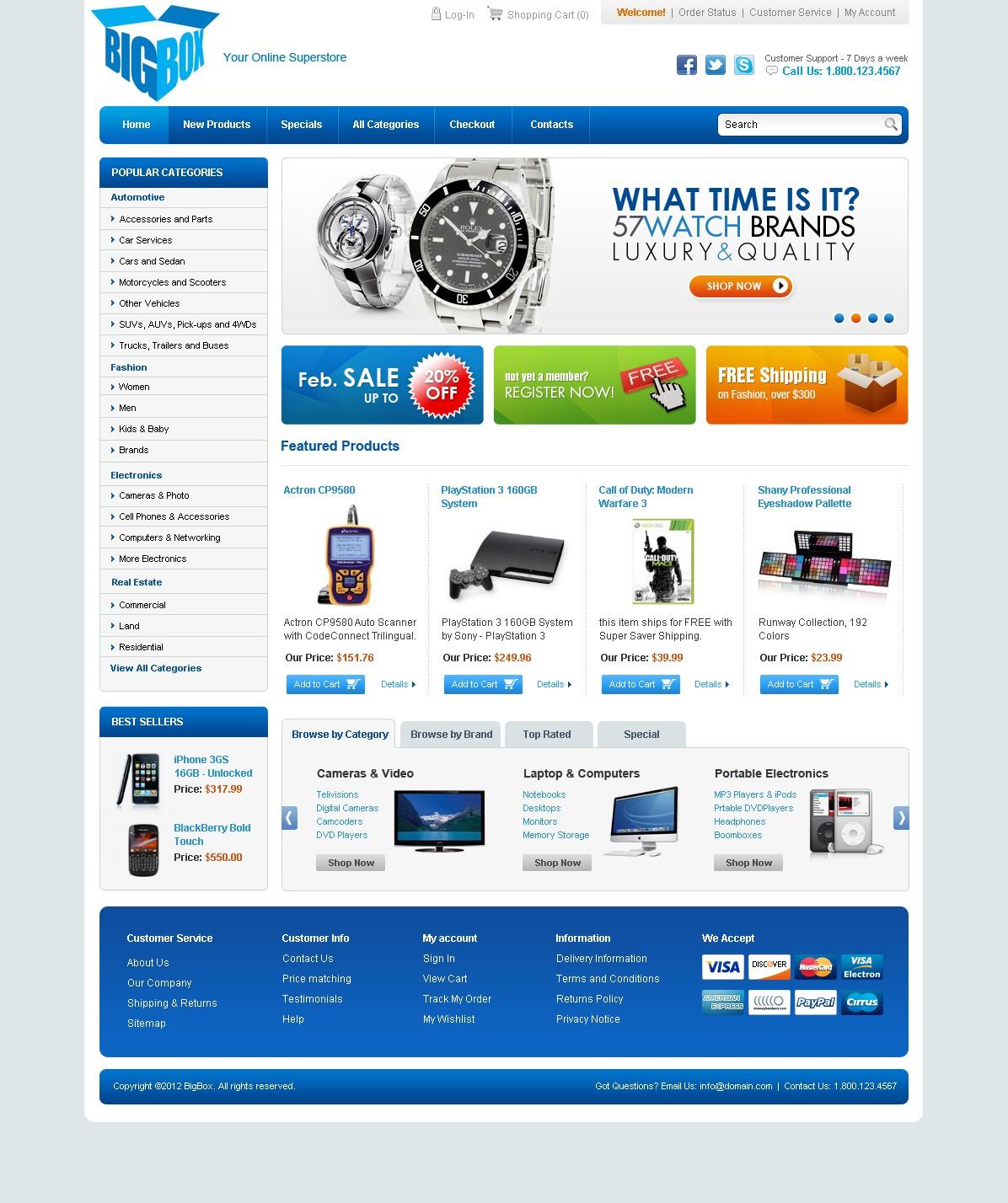 Help bigbox with a new website design