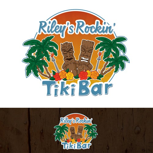 Illustration/logo design for a beach bar.