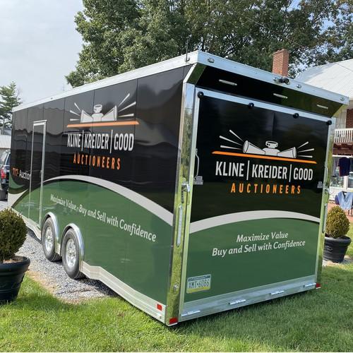 Kline, Kreider & Good Auctioneers office trailer