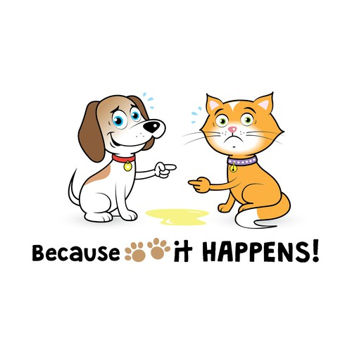 Cute Cat & Dog Mascots Needed (cartoon style)