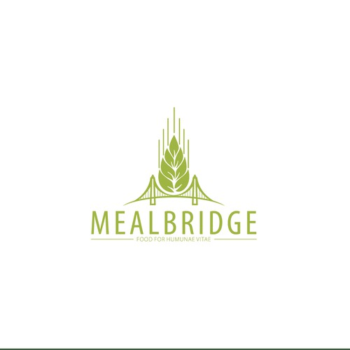 Create an eye-catching logo for Mealbridge, a non-profit organization working to end hunger!