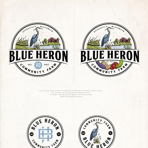 Logo Design for Blue Heron Farm