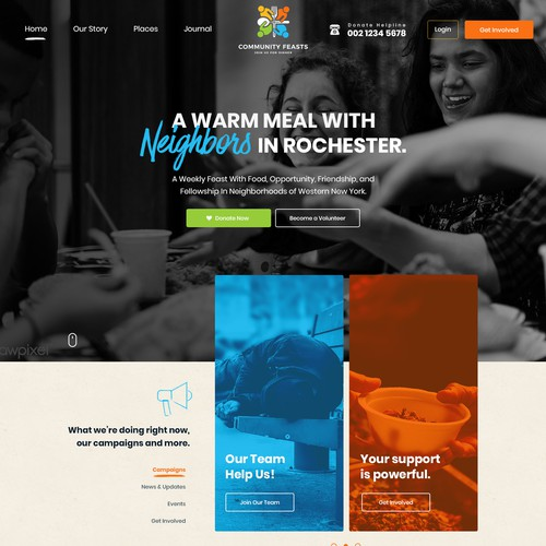 WordPress theme design for non-profit organization