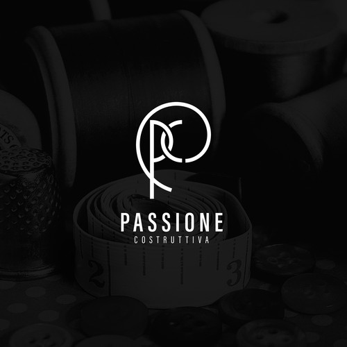 Luxurious logo for textile brand
