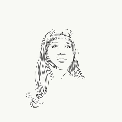 Tattoo drawing for Aretha Franklin