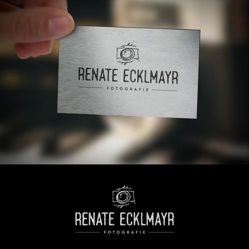 Hand Drawn Logo for Photographer Renate Ecklmayr