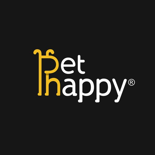 Pet Happy logo concept