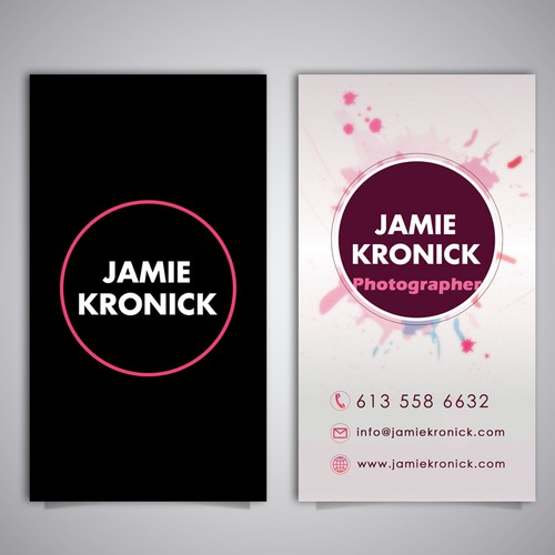 Create a sleek business card with a little extra something for Photographer.