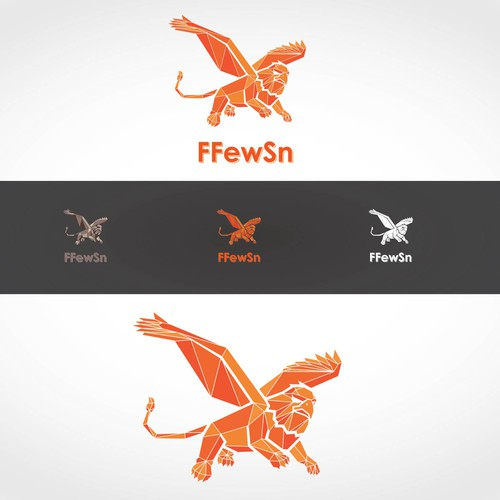 gryphon logo design with a classic, geometric playful and abstract look.