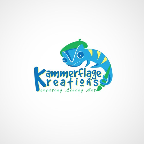 Create a unique Panther Chameleon logo for Kammerflage Kreations!