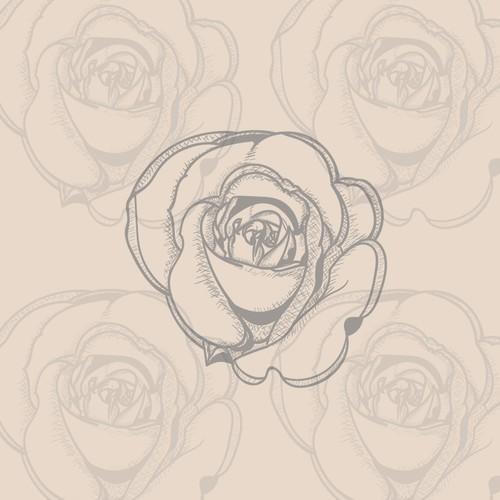 hand-drawn rose