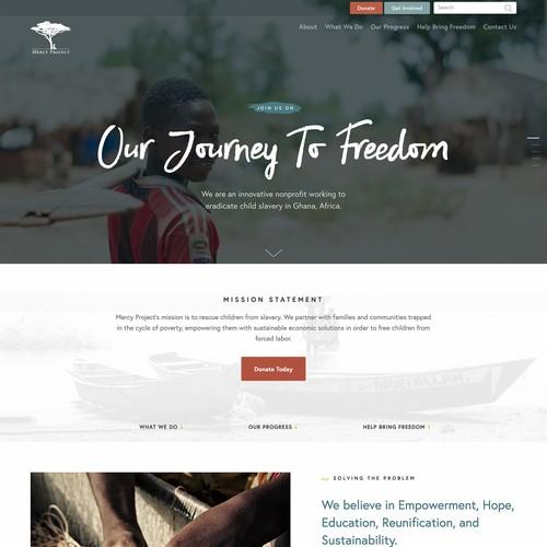Innovative nonprofit website