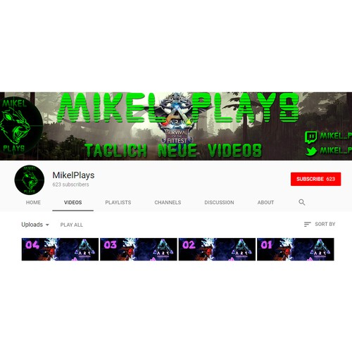 creative YouTube Layout