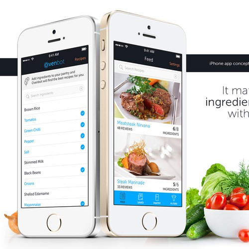 Advanced recipe app needs your design!