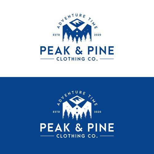 Peak & Pine logo design