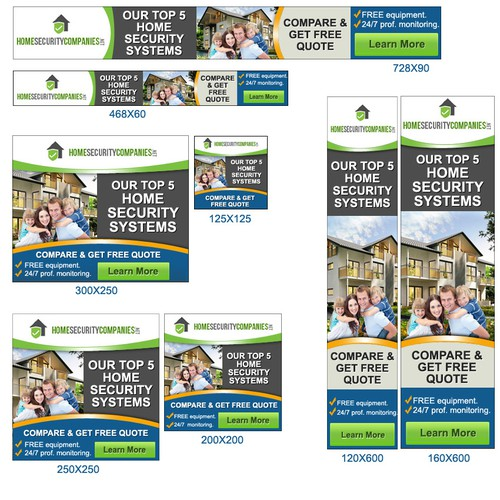 Create a banner ad for a Home Security System review site.