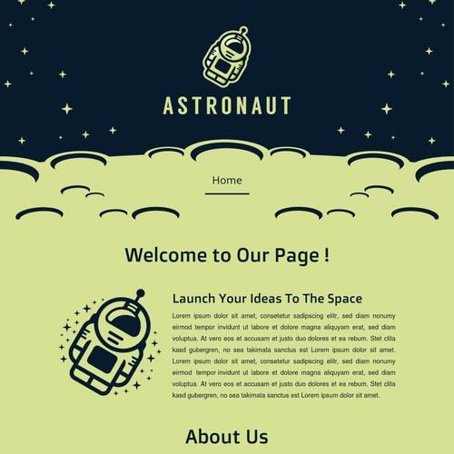 Astronaut Jimdo Template