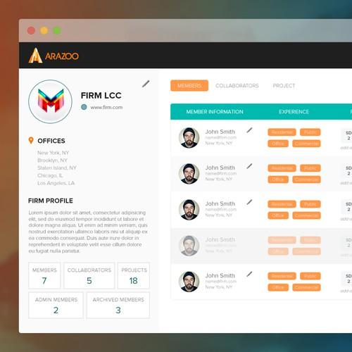 Admin Panel UI Graphic Design for Arazoo